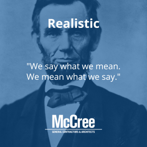 Abraham Lincoln was realistic