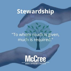 McCree CARES - Stewardship