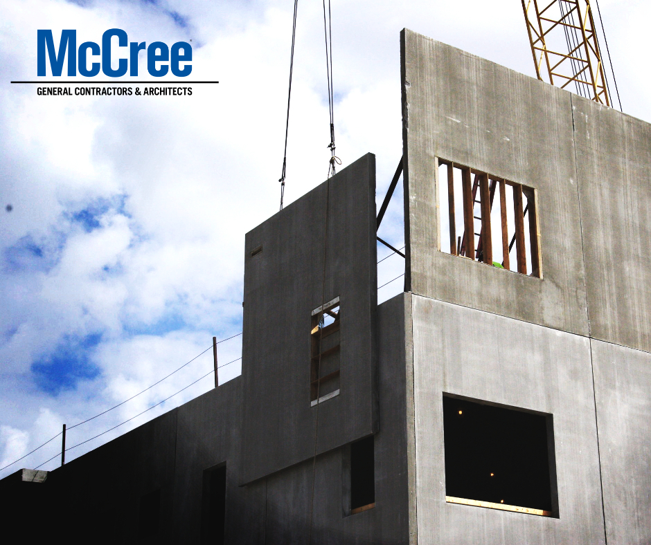 McCree precast panels for multistory construction.